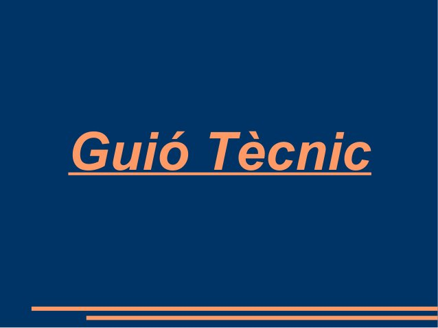 Guió Tècnic