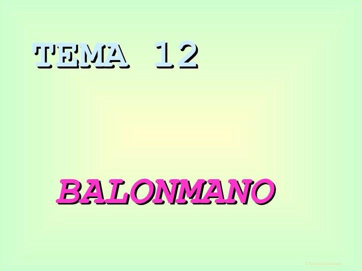TEMA 12   BALONMANO