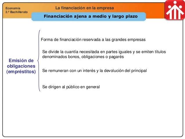 Economía 2.º Bachillerato Análisis financiero, económico y socialLa financiación en la empresaEconomía 2.º Bachillerato Fi...