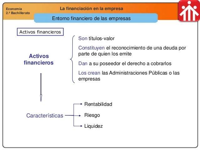 Economía 2.º Bachillerato Análisis financiero, económico y socialLa financiación en la empresaEconomía 2.º Bachillerato Ac...