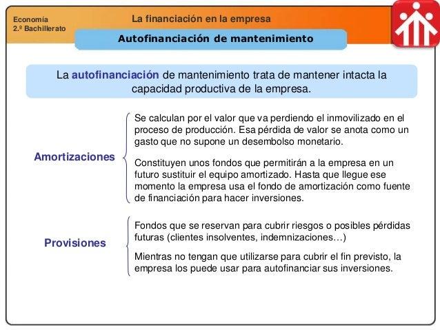 Economía 2.º Bachillerato Análisis financiero, económico y socialLa financiación en la empresaEconomía 2.º Bachillerato Au...