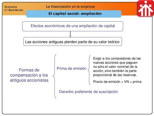 Economía 2.º Bachillerato Análisis financiero, económico y socialLa financiación en la empresaEconomía 2.º Bachillerato El...