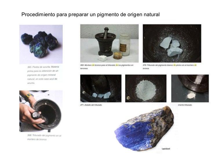Procedimiento para preparar un pigmento de origen natural