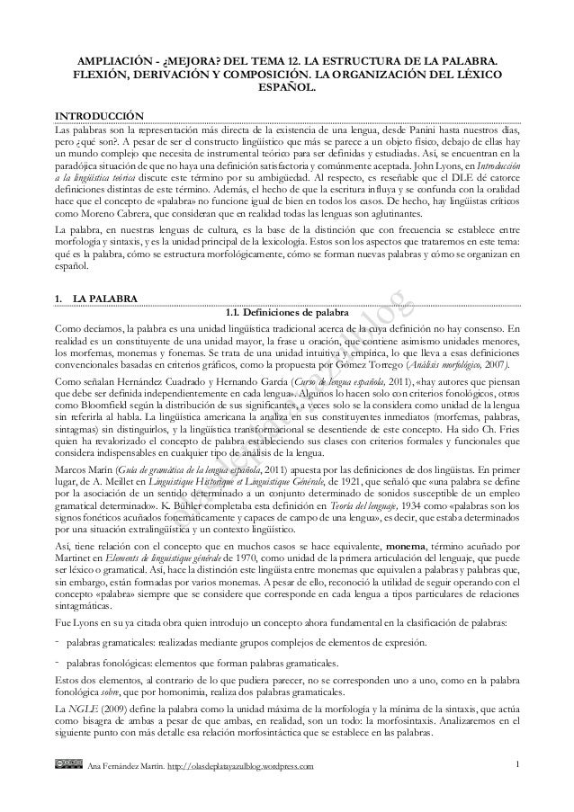 Ana Fernández Martín. http://olasdeplatayazulblog.wordpress.com 1 AMPLIACIÓN - ¿MEJORA? DEL TEMA 12. LA ESTRUCTURA DE LA P...