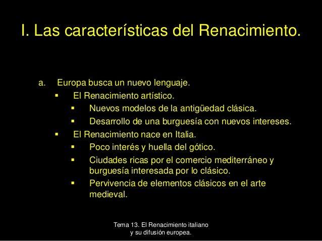 El Renacimiento italiano y su difusión europea Slide 2