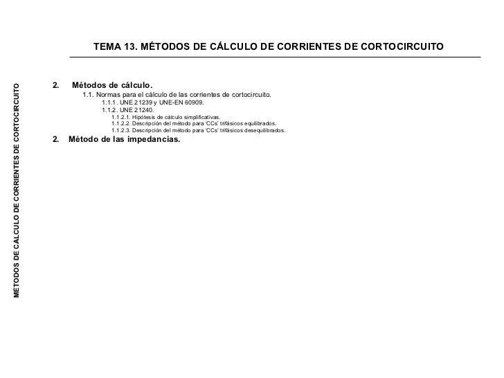 <ul><li>Métodos de cálculo. </li></ul><ul><ul><li>1.1. Normas para el cálculo de las corrientes de cortocircuito.  </li></...