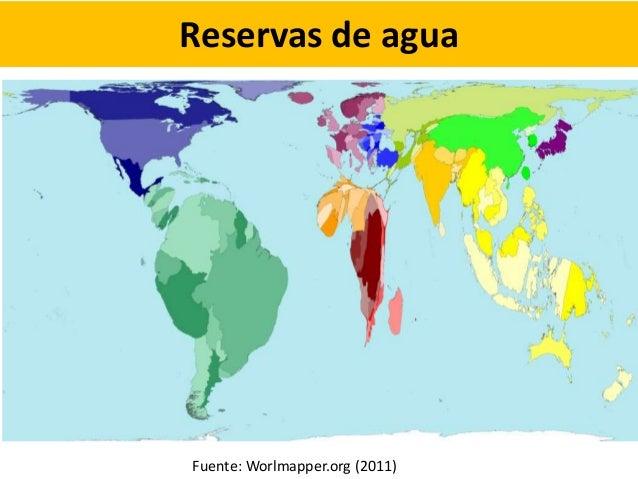 Reservas de agua Fuente: Worlmapper.org (2011)