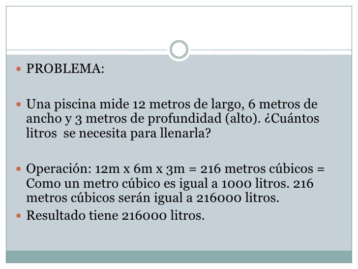 Tema 13 mates for Piscina 8x4 cuantos litros