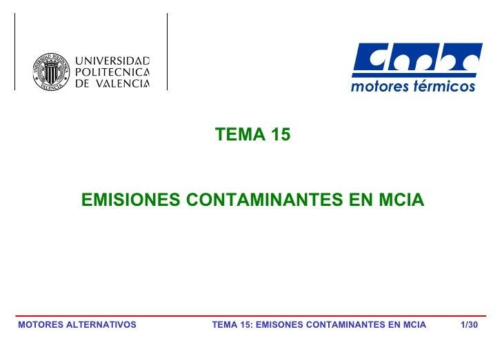 /30 TEMA 15 EMISIONES CONTAMINANTES EN MCIA