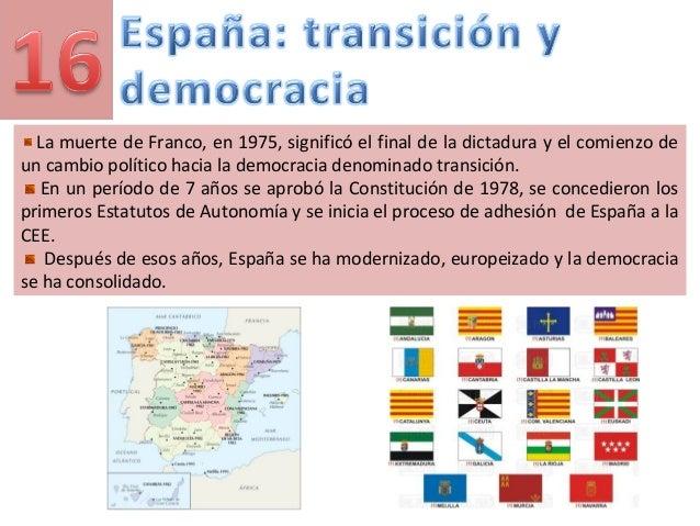 La muerte de Franco, en 1975, significó el final de la dictadura y el comienzo de un cambio político hacia la democracia d...