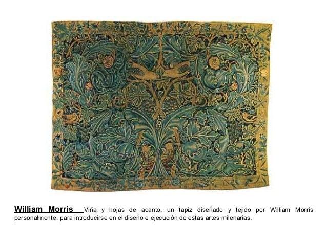 William Morris Viña y hojas de acanto, un tapiz diseñado y tejido por William Morris personalmente, para introducirse en e...