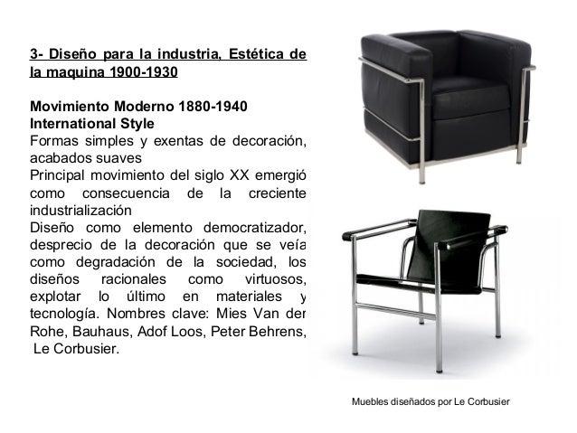 3- Diseño para la industria, Estética de la maquina 1900-1930 Movimiento Moderno 1880-1940 International Style Formas simp...