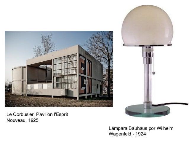Le Corbusier, Pavilion l'Esprit Nouveau, 1925 Lámpara Bauhaus por Wilhelm Wagenfeld - 1924