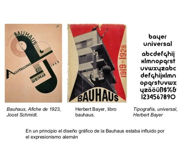 Bauhaus, Afiche de 1923, Joost Schmidt. Herbert Bayer, libro bauhaus. Tipografía, universal, Herbert Bayer En un principio...