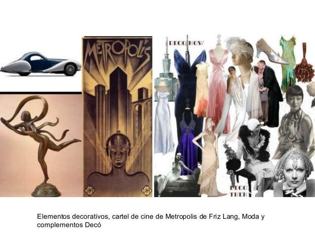 Elementos decorativos, cartel de cine de Metropolis de Friz Lang, Moda y complementos Decó