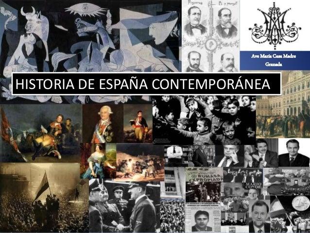Marta López Rodríguez. Ave María Casa Madre Ave María Casa Madre Granada HISTORIA DE ESPAÑA CONTEMPORÁNEA