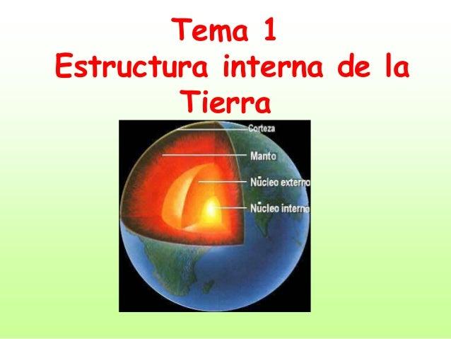 Tema 1 Estructura Int De La Tierra