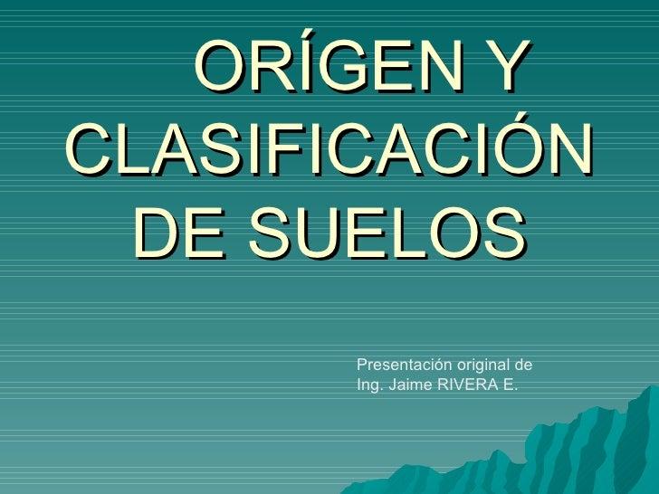Tema 1 origen y clasificaci n de suelos for Significado de suelo