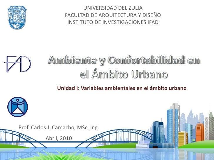 UNIVERSIDAD DEL ZULIA                    FACULTAD DE ARQUITECTURA Y DISEÑO                     INSTITUTO DE INVESTIGACIONE...