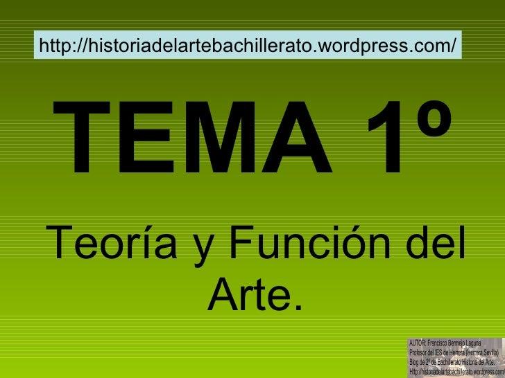 Tema 1º teoría y función del arte slideshare
