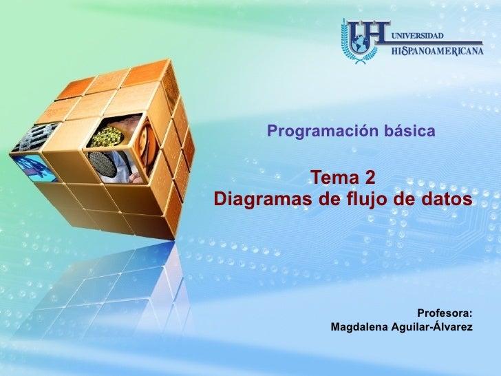 Tema 2 Diagramas de flujo de datos Programación básica Profesora: Magdalena Aguilar-Álvarez
