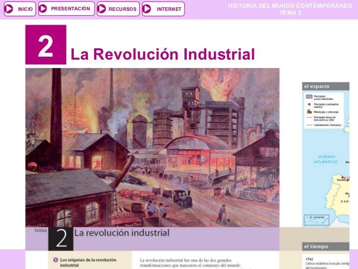 2 La Revolución Industrial PARA COMENZAR PRESENTACIÓN RECURSOS INTERNET