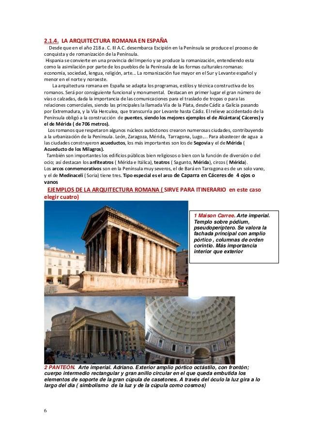 tema 2 1 arte romano arquitectura resumen