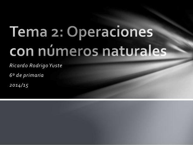 Ricardo Rodrigo Yuste 6º de primaria 2014/15