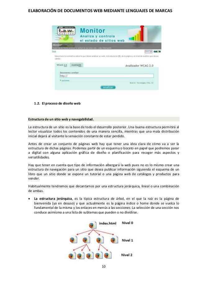 Elaboración de documentos web mediante lenguajes de marcas