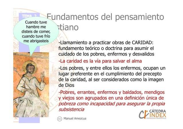 Fundamentos del pensamiento cristiano -Llamamiento a practicar obras de CARIDAD: fundamento teórico o doctrina para asumir...