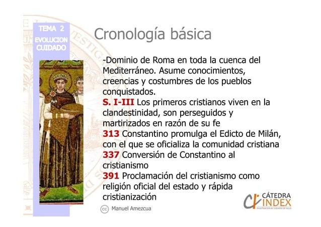 Cronología básica -Dominio de Roma en toda la cuenca del Mediterráneo. Asume conocimientos, creencias y costumbres de los ...