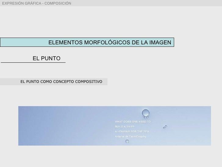ELEMENTOS MORFOLÓGICOS DE LA IMAGEN EL PUNTO EL PUNTO COMO CONCEPTO COMPOSITIVO