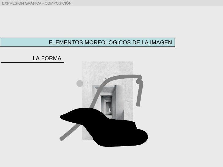 ELEMENTOS MORFOLÓGICOS DE LA IMAGEN LA FORMA