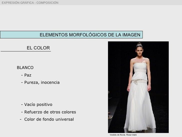 ELEMENTOS MORFOLÓGICOS DE LA IMAGEN EL COLOR BLANCO - Paz - Pureza, inocencia - Vacío positivo - Refuerzo de otros colores...