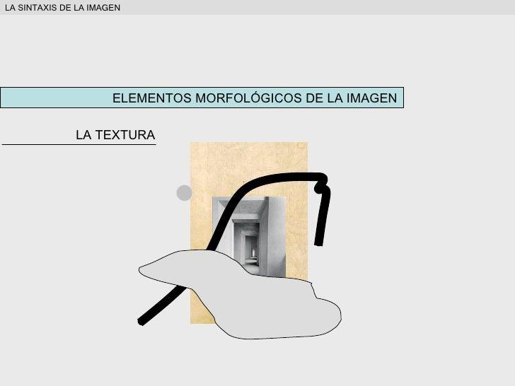 ELEMENTOS MORFOLÓGICOS DE LA IMAGEN LA TEXTURA