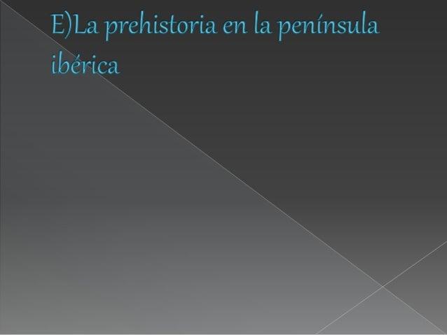 Tema 2  la prehistoria