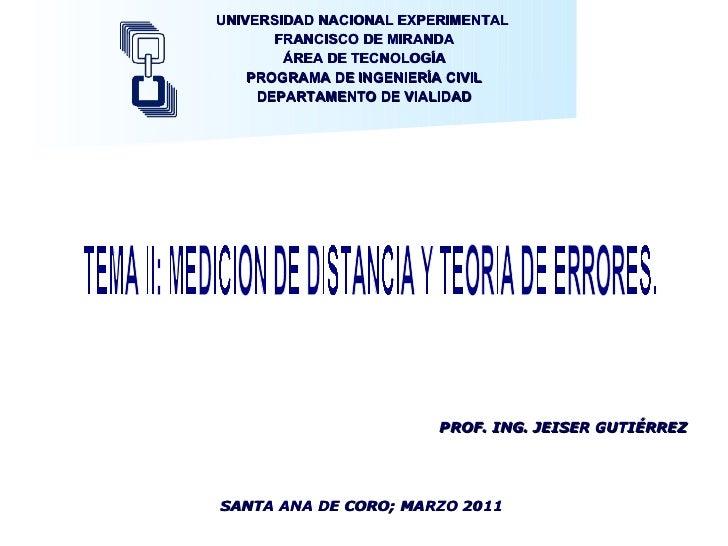 UNIVERSIDAD NACIONAL EXPERIMENTAL  FRANCISCO DE MIRANDA ÁREA DE TECNOLOGÍA PROGRAMA DE INGENIERÍA CIVIL DEPARTAMENTO DE VI...