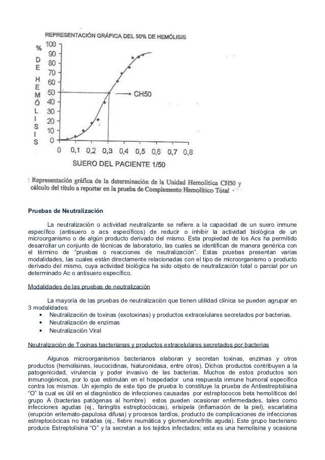 Pruebas de Neutralización       La neutralización o actividad neutralizante se refiere a la capacidad de un suero inmunees...