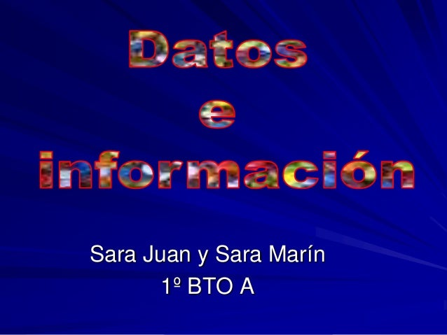 Sara Juan y Sara Marín 1º BTO A
