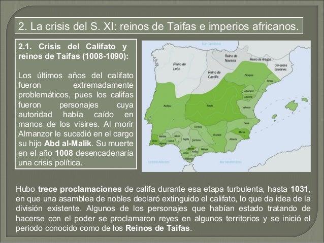 Más de una veintena de reinos surgieron en el territorio de al-Ándalus; los más  grandes fueron los de Toledo, Badajoz y Z...