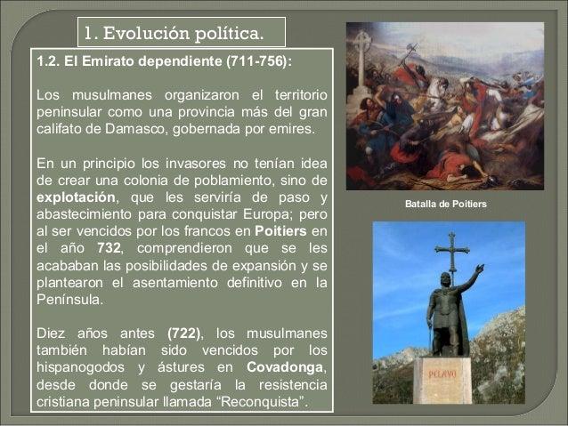 La tarea de los emires dependientes fue la de controlar el territorio para  organizar el nuevo estado.  Se trataba de impl...