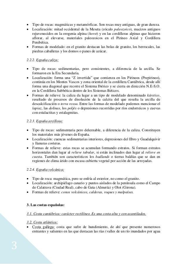 Tema 2 el relieve español. caracteres generales. la variedad litológica. el proceso de formación. las costas españolas. Slide 3