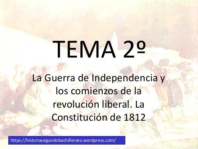 Tema 2º la guerra de independencia