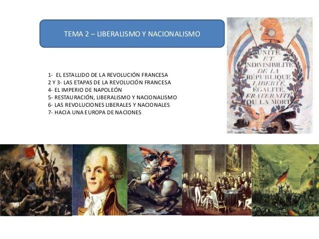 TEMA 2 – LIBERALISMO Y NACIONALISMO 1- EL ESTALLIDO DE LA REVOLUCIÓN FRANCESA 2 Y 3- LAS ETAPAS DE LA REVOLUCIÓN FRANCESA ...
