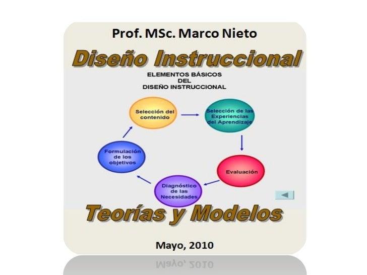 Contenido  •   Definiciones de Diseño Instruccional •   Conceptualización del modelo instruccional •   El DI y las teorías...