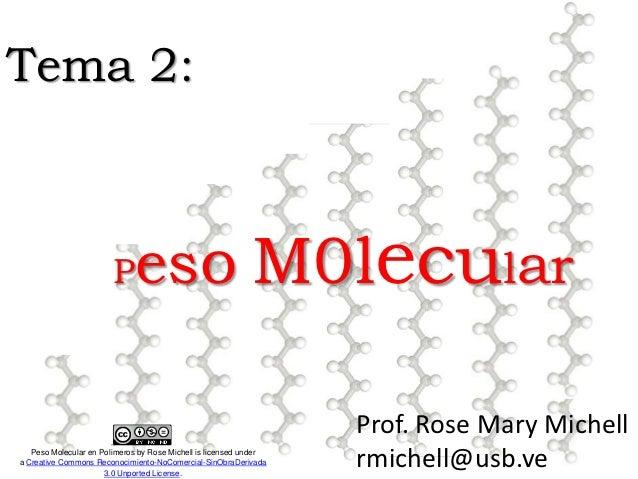 Tema 2:                        P    eso M0lecular                                                                   Prof. ...