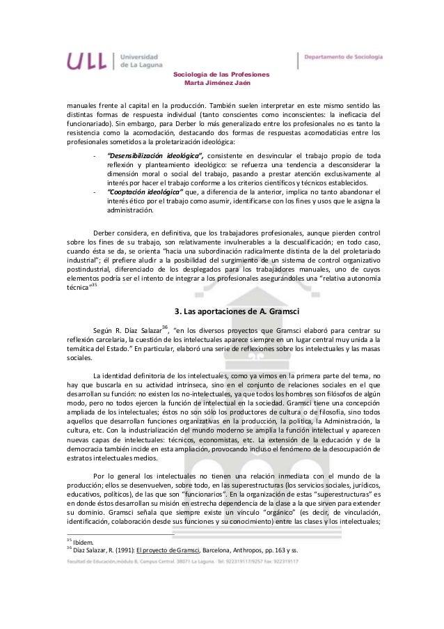 Sociología de las Profesiones                                              Marta Jiménez Jaénmanuales frente al capital en...