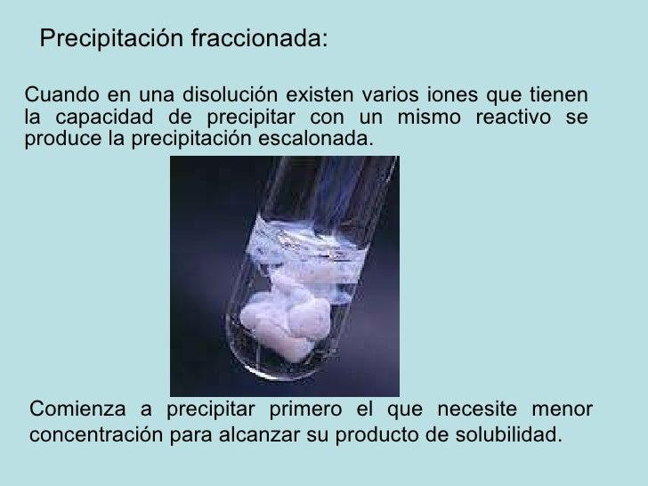 Resultado de imagen para Precipitación Fraccionada
