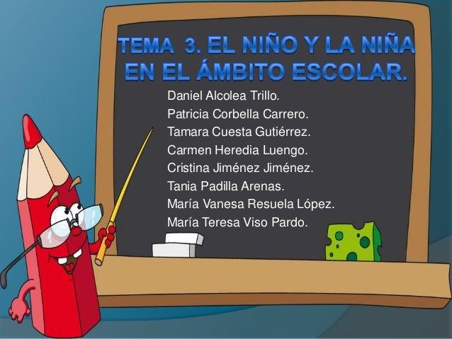 Daniel Alcolea Trillo.Patricia Corbella Carrero.Tamara Cuesta Gutiérrez.Carmen Heredia Luengo.Cristina Jiménez Jiménez.Tan...