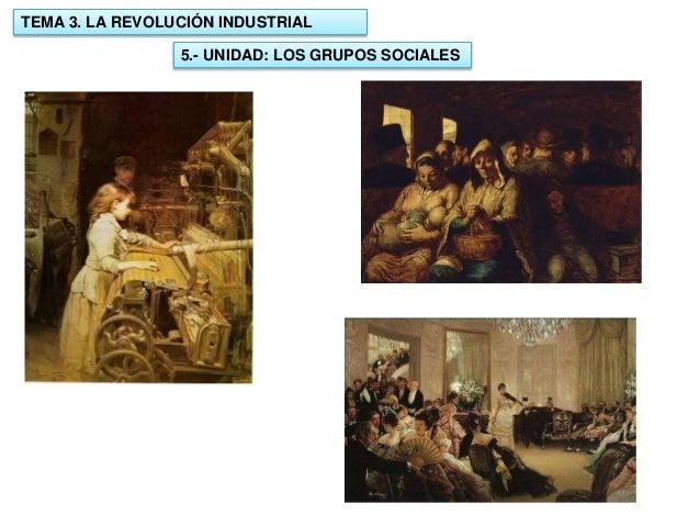 TEMA 3. LA REVOLUCIÓN INDUSTRIAL 5.- UNIDAD: LOS GRUPOS SOCIALES